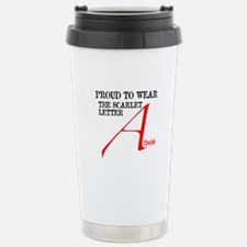 Scarlet Letter Atheist Travel Mug