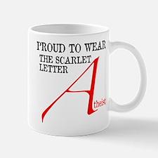 Scarlet Letter Atheist Mug