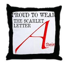 Scarlet Letter Atheist Throw Pillow