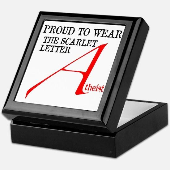 Scarlet Letter Atheist Keepsake Box