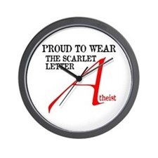 Scarlet Letter Atheist Wall Clock