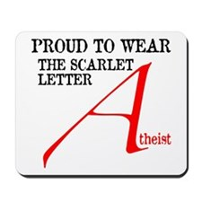 Scarlet Letter Atheist Mousepad