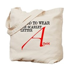Scarlet Letter Atheist Tote Bag