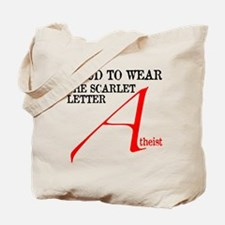 Scarlet Letter Atheist Tote Bag