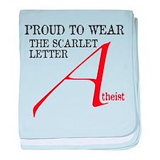 Scarlet Letter Atheist baby blanket