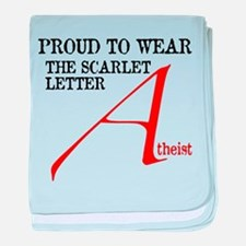 Scarlet Letter Atheist baby blanket