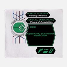 Rules of Acquisition 009 Throw Blanket