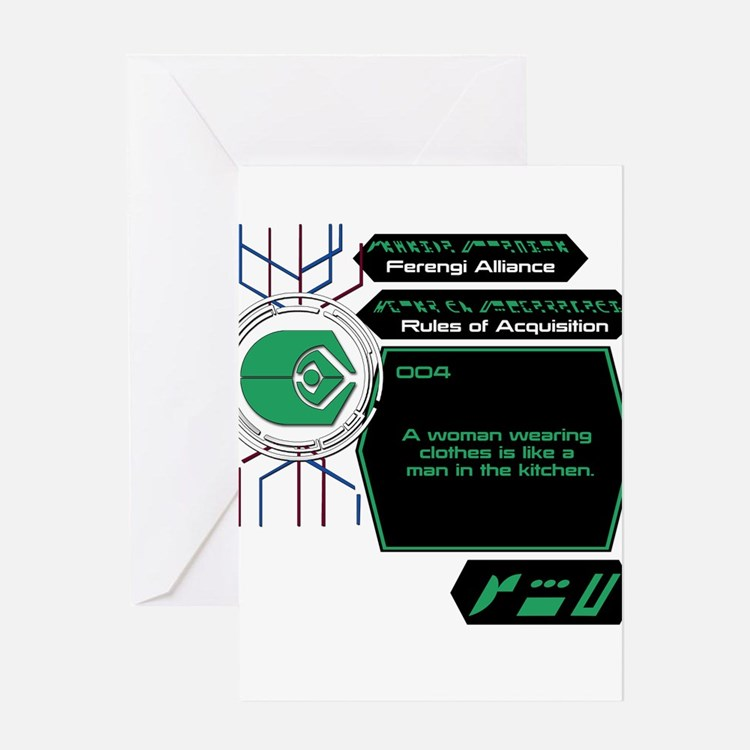 Rules of Acquisition 004 Greeting Card