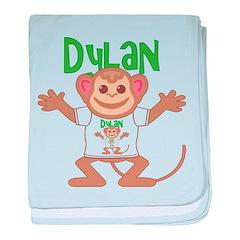 Little Monkey Dylan baby blanket