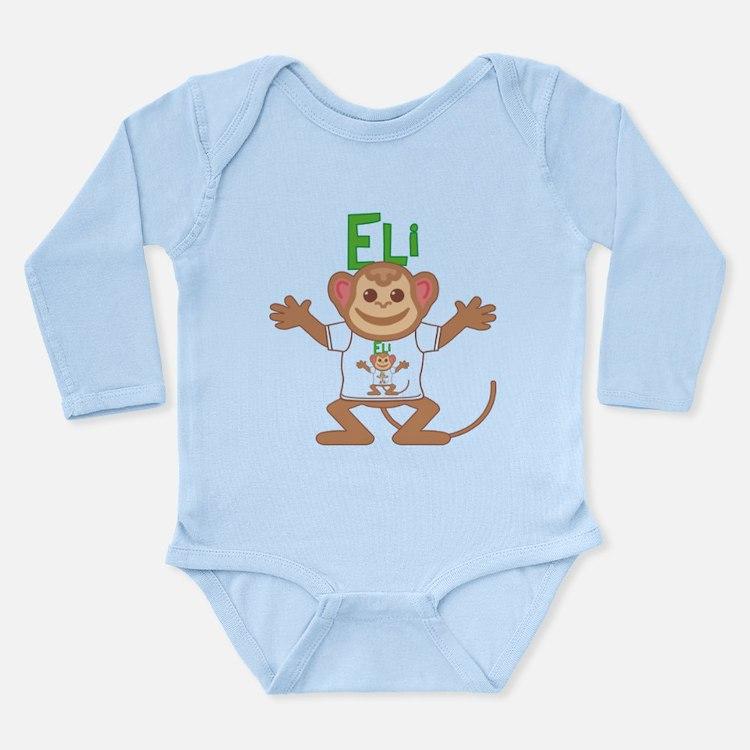 Little Monkey Eli Long Sleeve Infant Bodysuit