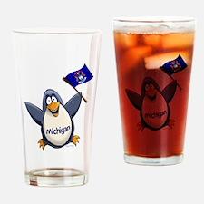Michigan Penguin Drinking Glass