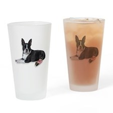 Boston Terrier Drinking Glass