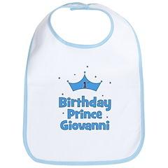 1st Birthday Prince GIOVANNI! Bib