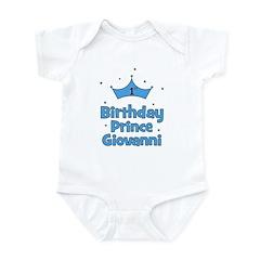 1st Birthday Prince GIOVANNI! Infant Bodysuit