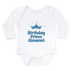 1st Birthday Prince GIOVANNI! Long Sleeve Infant B