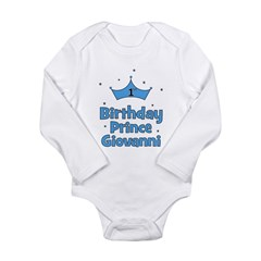 1st Birthday Prince GIOVANNI! Long Sleeve Infant B