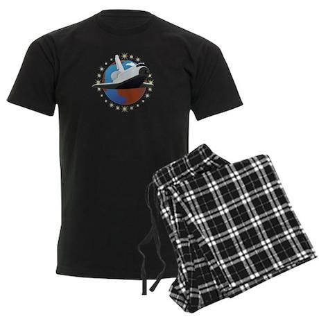 Space Shuttle Men's Dark Pajamas