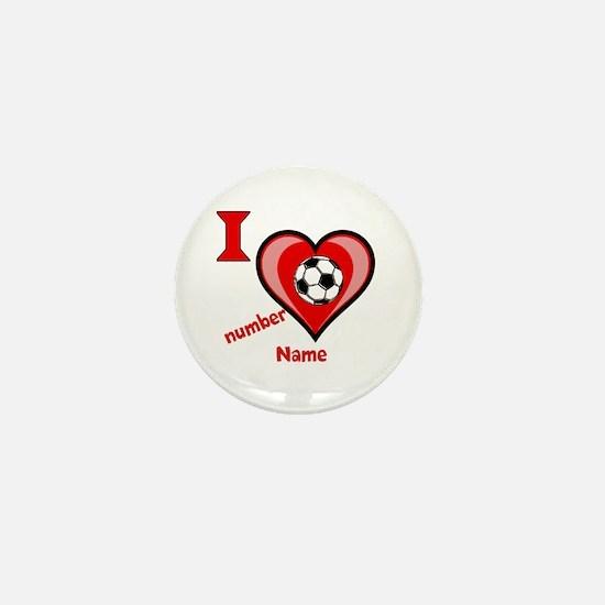 Customizable Soccer Love Mini Button