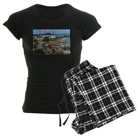 ST. Maarten - Marigot Women's Dark Pajamas