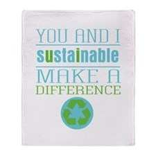 You and I Sustainability Throw Blanket