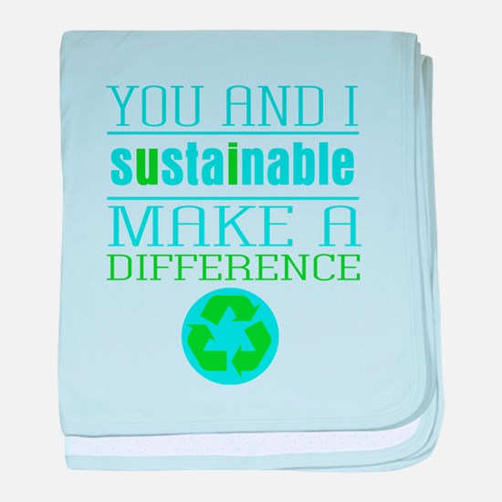 You and I Sustainability baby blanket