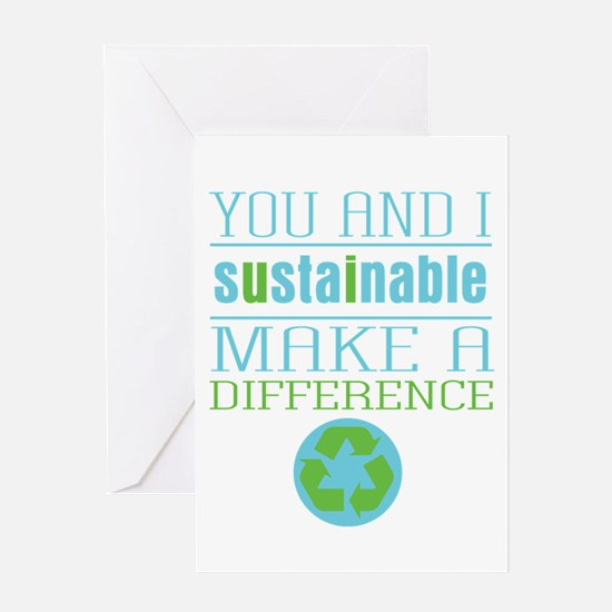 You and I Sustainability Greeting Card