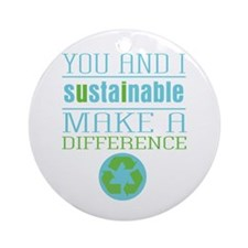 You and I Sustainability Ornament (Round)