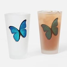 Blue Morpho Butterfly Drinking Glass