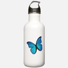 Blue Morpho Butterfly Sports Water Bottle