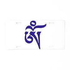 Tibetan Aum Aluminum License Plate