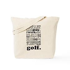 Golfer Gift Tote Bag