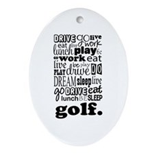 Golfer Gift Ornament (Oval)