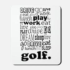 Golfer Gift Mousepad