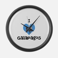 I love Galapagos Large Wall Clock