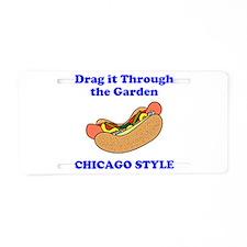Chicago Style Hotdog Aluminum License Plate