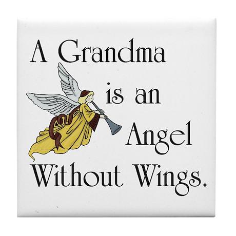 Grandma Angel Tile Coaster