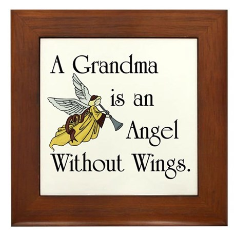 Grandma Angel Framed Tile
