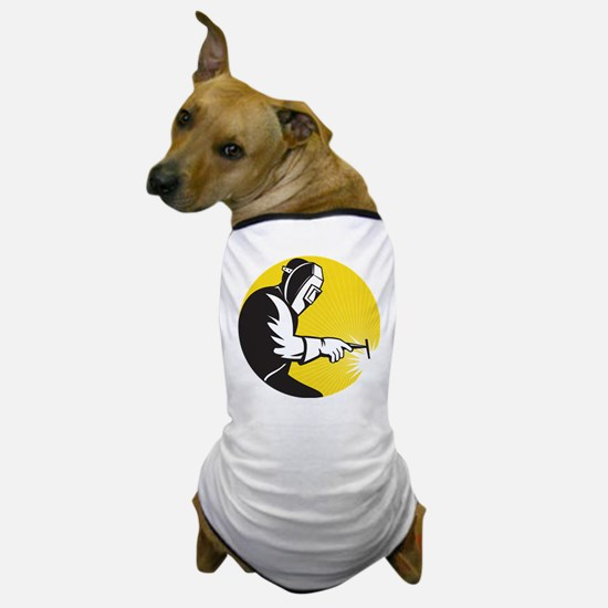 welder welding Dog T-Shirt