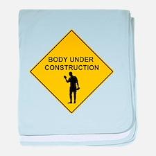 Body Under Contruction baby blanket
