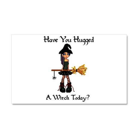 Hugged A Witch? Car Magnet 20 x 12