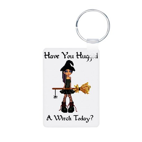 Hugged A Witch? Aluminum Photo Keychain