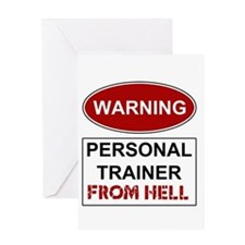 Warning Personal Trainer from Greeting Card