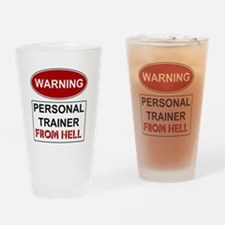 Warning Personal Trainer from Drinking Glass