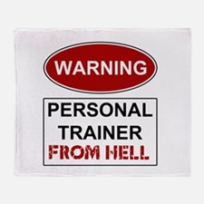 Warning Personal Trainer from Throw Blanket