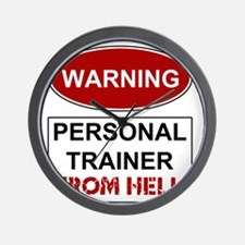 Warning Personal Trainer from Wall Clock