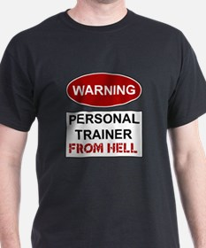 Warning Personal Trainer from T-Shirt