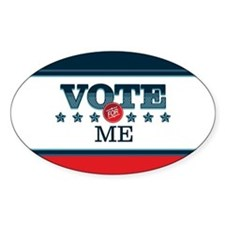 Vote for 5_oval Decal