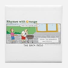 The Back Patio Tile Coaster