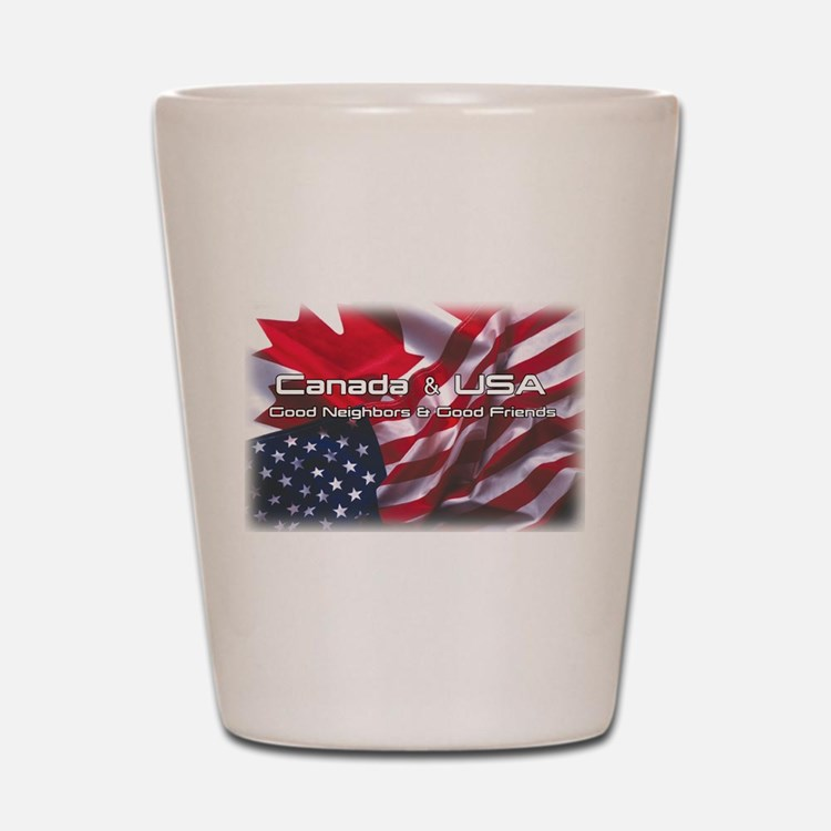 USA & Canada Shot Glass