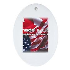 USA & Canada Ornament (Oval)